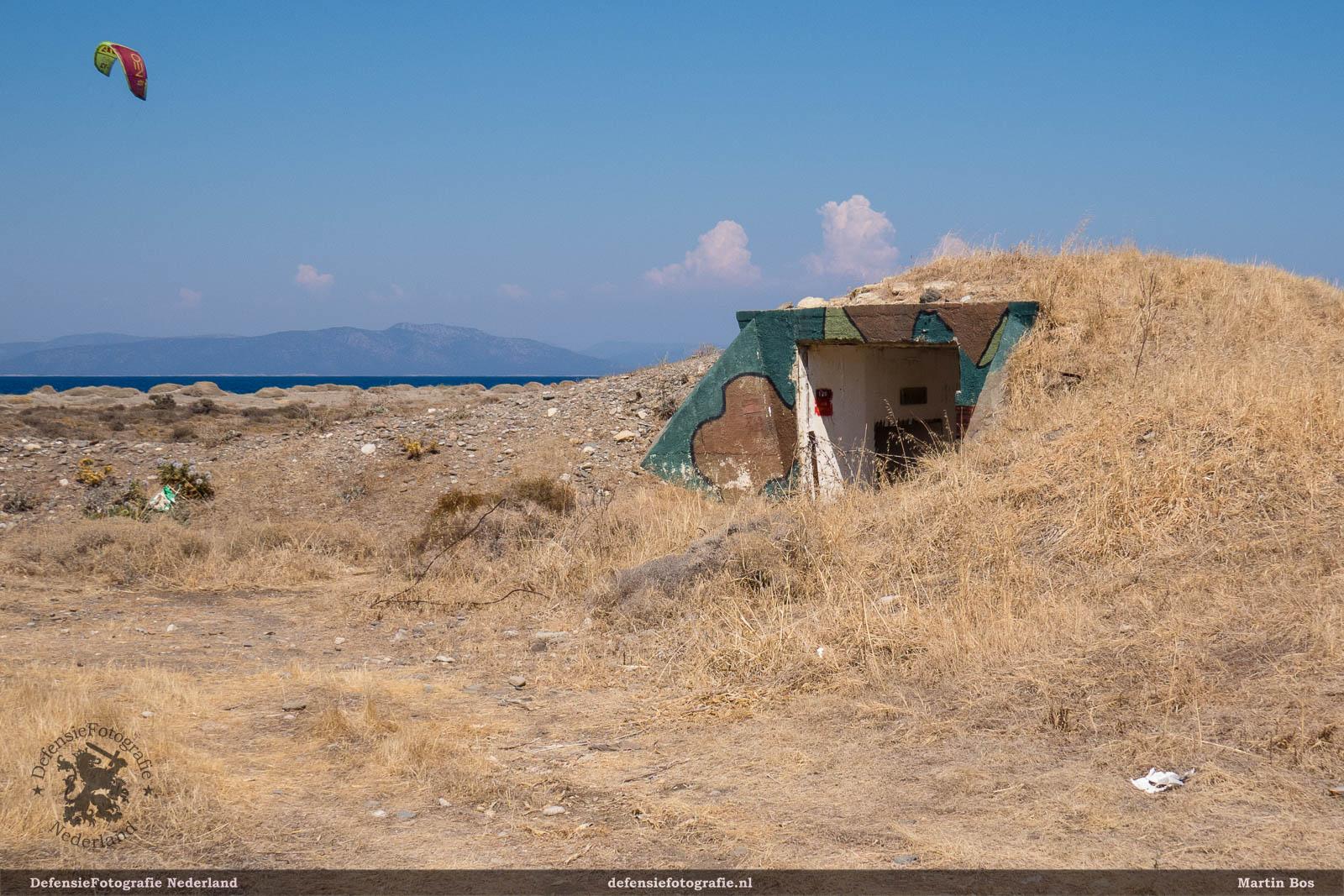 Verlaten bunkers op Kos