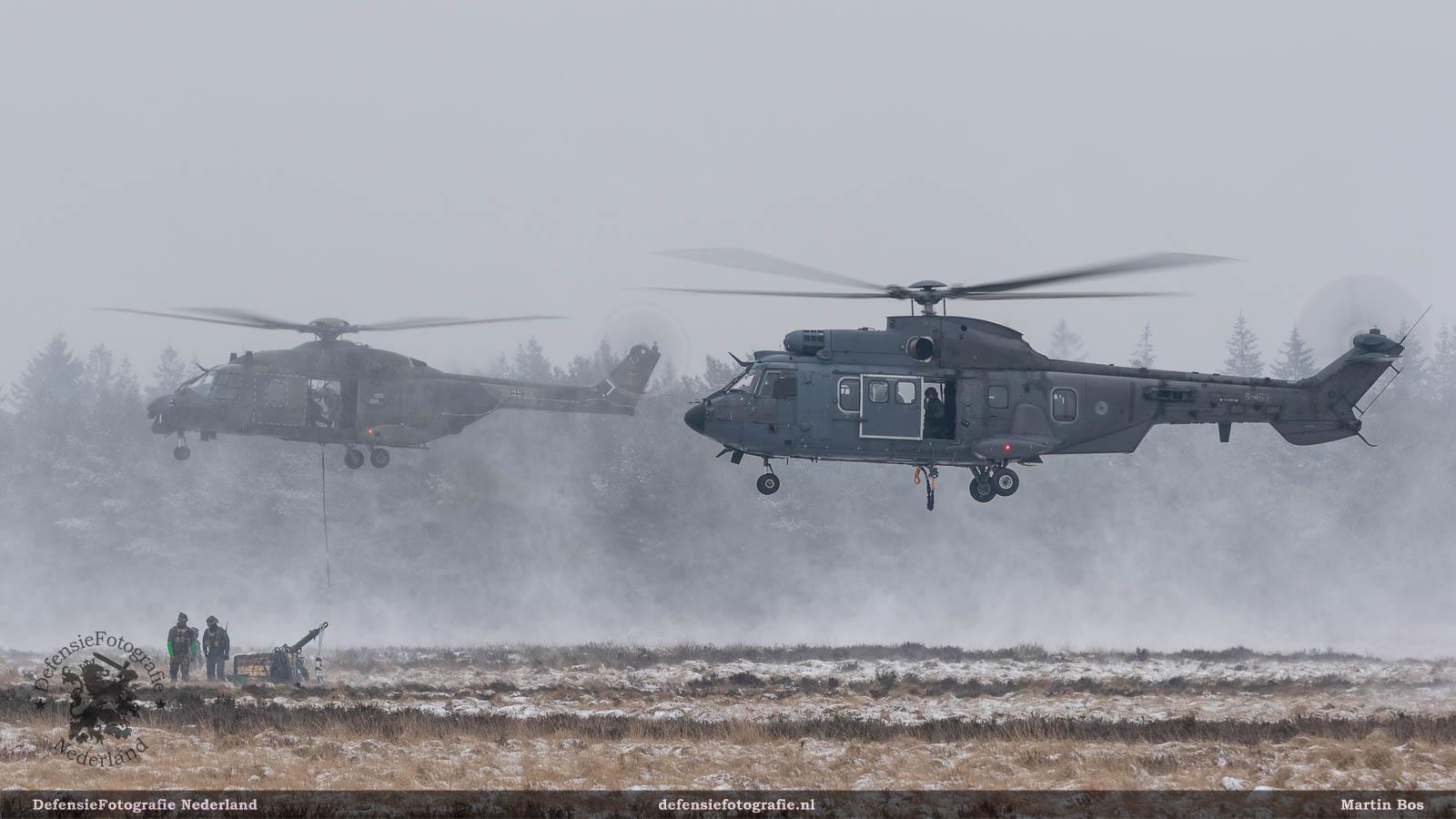 Cougar en NH90 met slingload