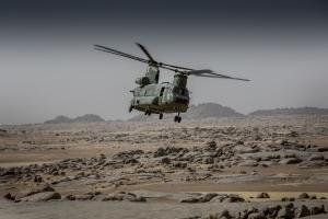 Laagvliegen Chinook Mali